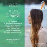 Campaña del Lalcec contra el cáncer de pulmón