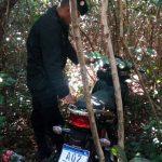 Recuperan una motocicleta robada y buscan intensamente al autor