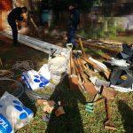 Demoran a dos adolescentes y recuperan objetos robados en una obra en construcción