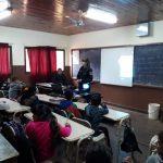 La Policía Comunitaria desarrolló un intenso trabajo de prevención en la escuela 688 de Oberá