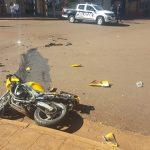 Motociclista herido tras colisionar con una camioneta en Oberá