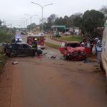 Fuerte colisión en la autovía de Oberá dejó cuatro lesionados