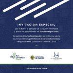 Hoy se presenta el PEO a instituciones intermedias