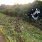 Volcó un camión en la ruta 14, no se registraron lesionados