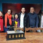 Ganadores de la Bienal de escultura: Alumnos de la FAyD