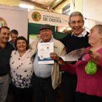 Setenta familias de Oberá tienen su título de propiedad