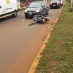 Motociclista hospitalizado tras embestir a un perro en Oberá