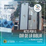 El domingo acto por el Día de la Biblia