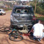 Colisión dejó un ciclista hospitalizado en Oberá