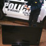 La Policía recuperó un televisor robado y busca a los autores