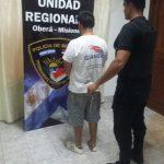 Detienen a un hombre acusado de robo calificado  en Oberá