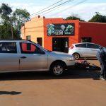 Colisión entre un automóvil y una motocicleta dejó dos personas hospitalizadas en Oberá