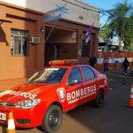 La Jefatura de Policía envió un móvil a la división Bomberos de Oberá