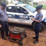 La Policía recuperó un grupo electrógeno robado y busca a los autores del hecho