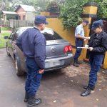 Secuestran un automóvil e identifican a su conductor por ocasionar daños en el Centro Cívico de Oberá