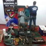 Recuperan elementos robados de un taller mecánico y detienen al presunto autor