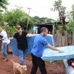 Recorren los barrios brindando asistencia