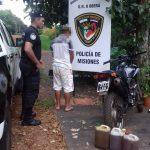 Detienen a un joven por el robo de combustible en Oberá
