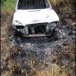 Un automóvil robado en Buenos Aires fue encontrado incendiado en una chacra de Los Helechos
