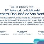Acto aniversario del Natalicio del General San Martín