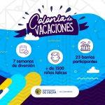 Más de 1500 niños disfrutaron de la Colonia de Vacaciones