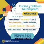 Inscripciones abiertas para cursos y talleres municipales