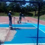 Arreglan playones deportivos