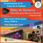 """Taller de guitarras municipal """"Semillas para nuevos sueños"""""""