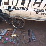 Recuperan objetos robados y buscan intensamente a los autores del ilícito