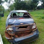 Despiste en la ruta 5 dejó  como saldo daños materiales en Panambí