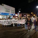 Manifestación universitaria y paro docente universitario