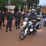 Prevención: La nueva División Motorizada de Oberá recibió 10 motocicletas para reforzar el patrullaje en la ciudad