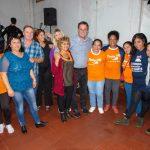 Con un imponente marco de gente Tony Lindstrom agradeció el compromiso de su militancia