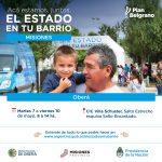 """El programa """"El Estado en tu Barrio"""" presente en Oberá"""