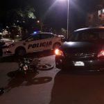 Siniestro vial dejó como resultado un motociclista lesionado en Oberá