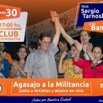 Tony Lindstrom reconoce el esfuerzo de la militancia con un evento artístico en el Club Cooperativa
