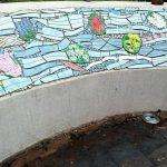 Las golondrinas desde Oberá miran al mundo, el mural artístico en el Parque de las Naciones
