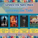 Cartelera del Cine Teatro Oberá-Espacio Incaa