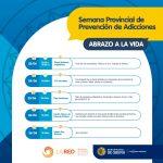 """Semana Provincial de Prevención de Adicciones """"Abrazo a la Vida"""""""