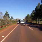 Siniestro vial en la ruta 14 dejó como saldo un motociclista lesionado