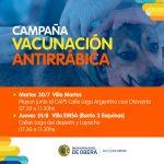 Campaña de vacunación antirrábica en los barrios