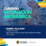 Vacunación antirrábica en Villa Ruff