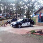 La policía brinda la cobertura de seguridad en la Pre Fiesta Nacional del Inmigrante