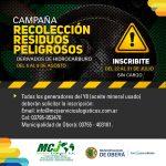 Campaña de recolección de residuos peligrosos
