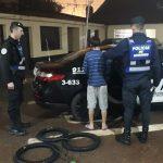 La policía recuperó 3 cubiertas robadas y detuvo a un joven