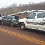 Triple colisión en la ruta 14 dejo daños materiales