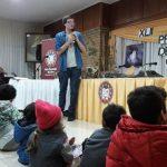 Matias Motta cautivó a niños, jóvenes y adultos en la Feria del Libro