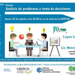 Curso gratuito sobre análisis de problemas y toma de decisiones en Oberá