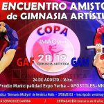 La Tercera fecha del Torneo Provincial y la sexto Encuentro Amistoso de Gimnasia Artística se desarrollará en Apóstoles este sábado