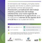 Jornada de prevención y erradicación del trabajo adolescente